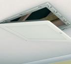 Partially open drop down loft access door
