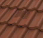 Terracotta Double Pantile tile vent installed as part of a terracotta roof covering